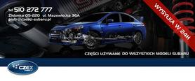 Ślizg zderzaka lewy tył kombi Subaru Impreza 01 02